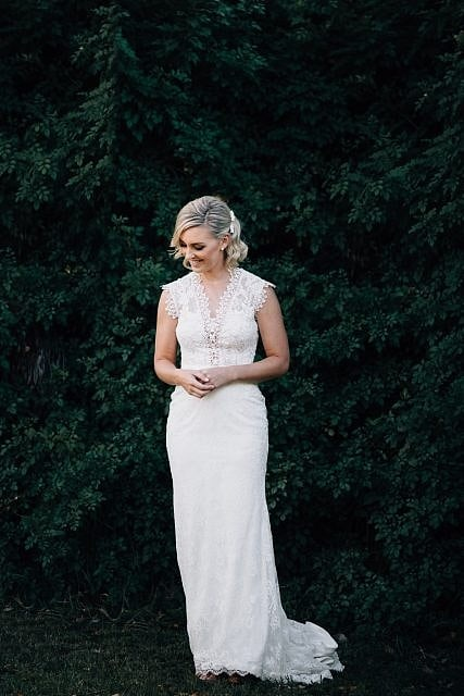 Bride looking fantastic in her lovely Grace Loves Lace gown