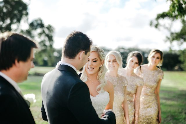 Natural Moment Bride Groom Party