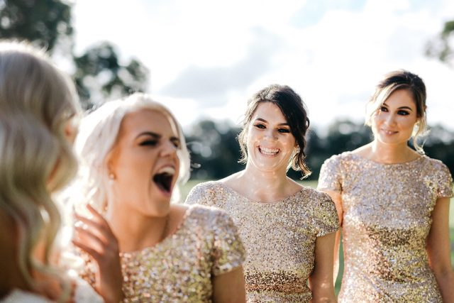 Laughing Natural Candid Moment Wedding