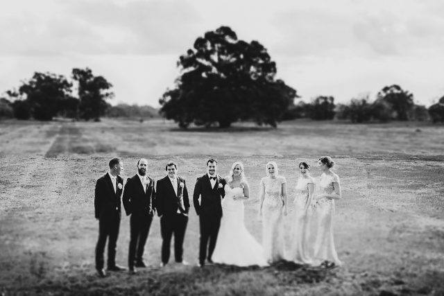 Ceremony Wedding Field Bridal Party Guildford