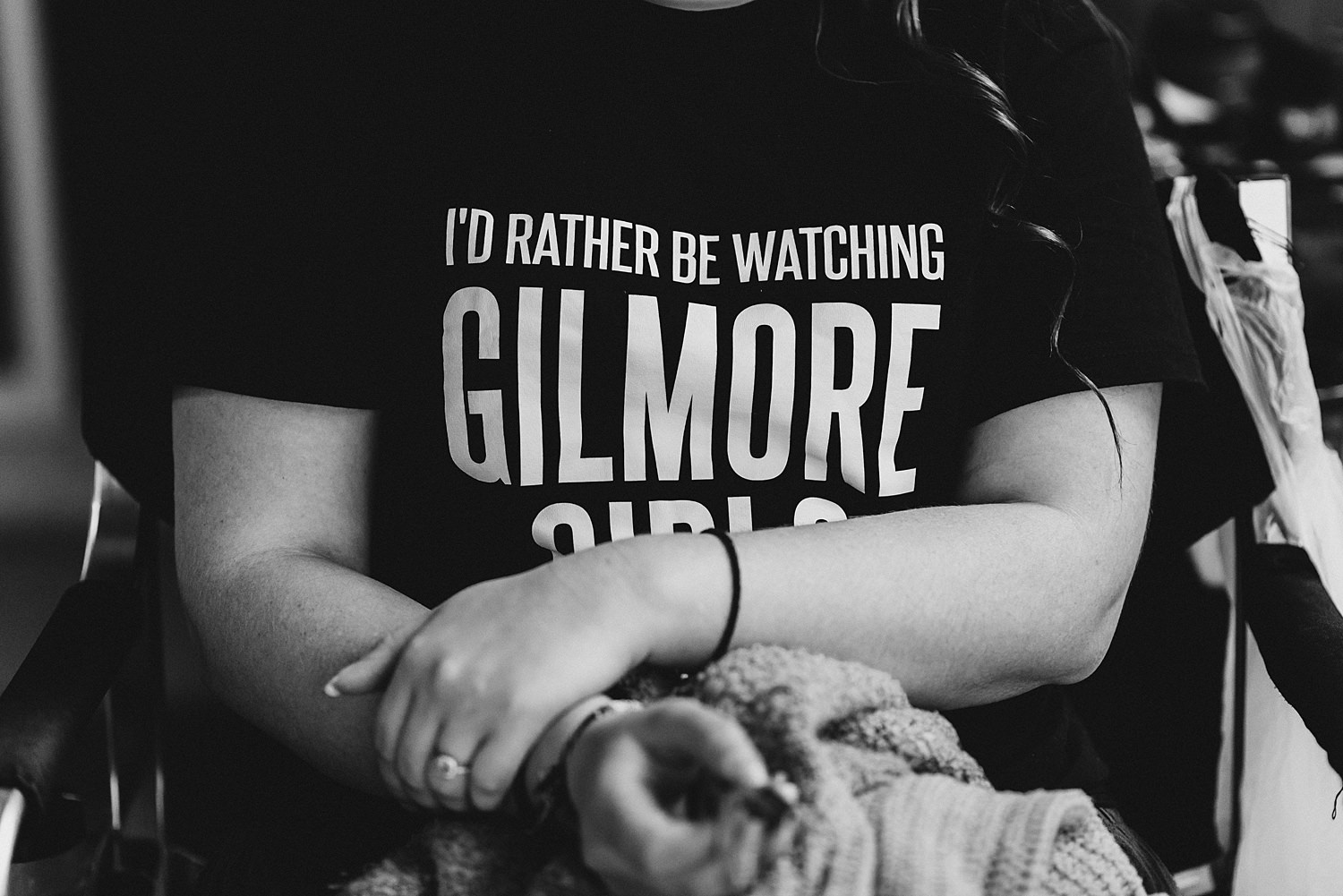 Gilmore Girls Tshirt On Bridesmaid