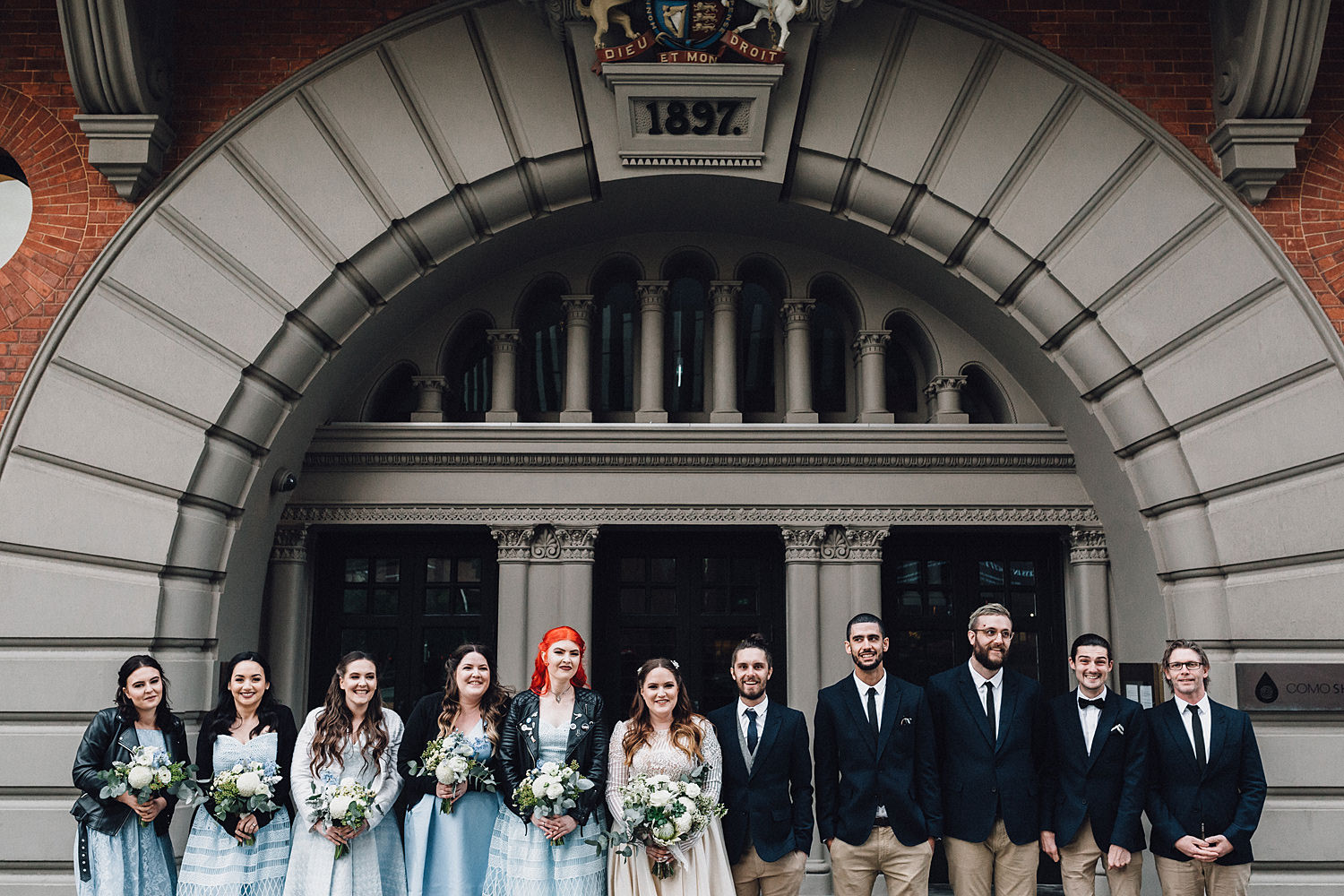 Como Treasury Building Bridal Party