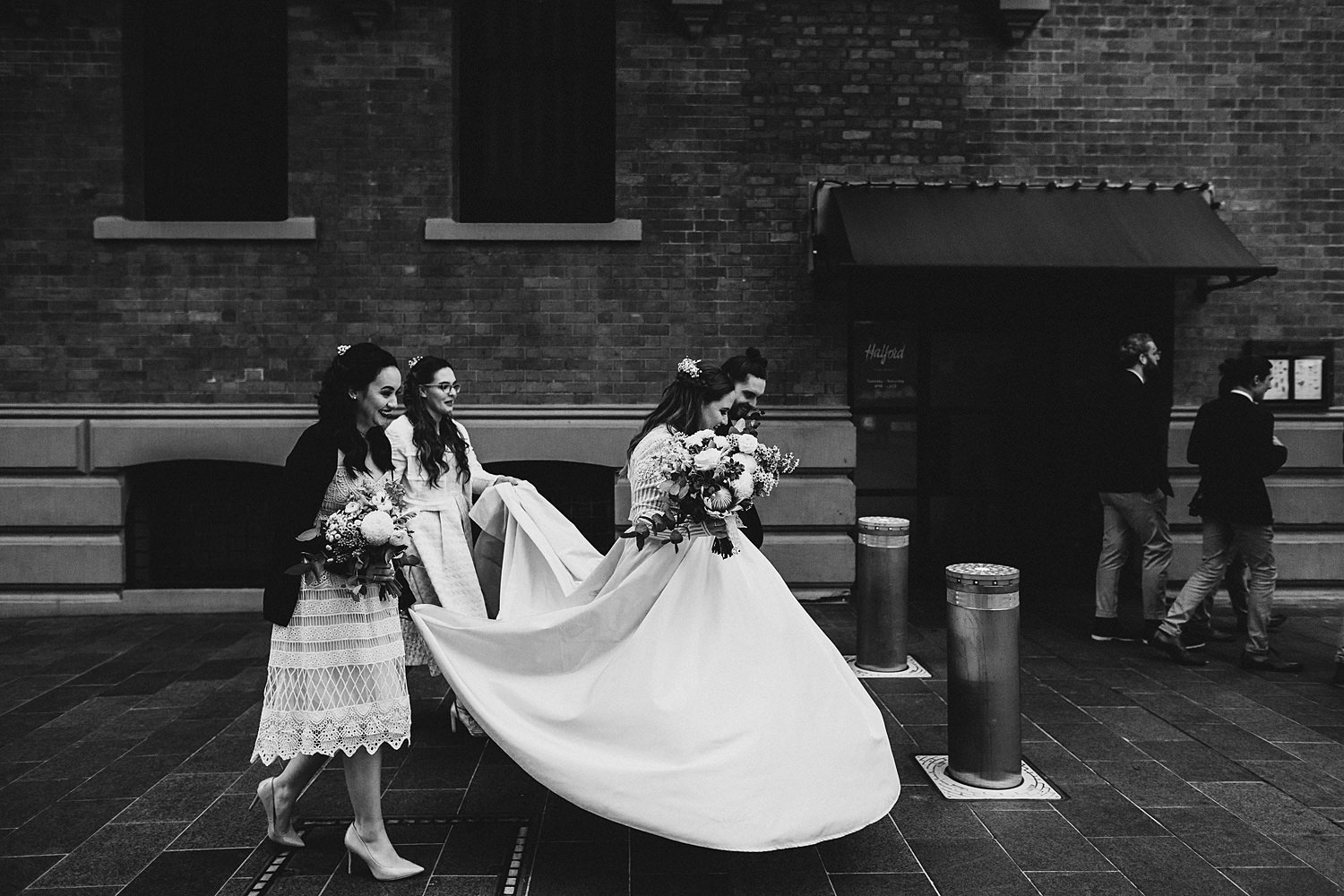 Bride Floating Illusion Girls Help Dress