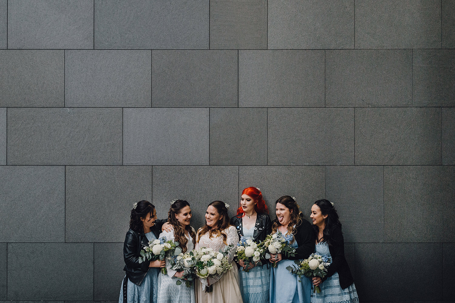 Bridesmaids Together In Leather Como Treasury