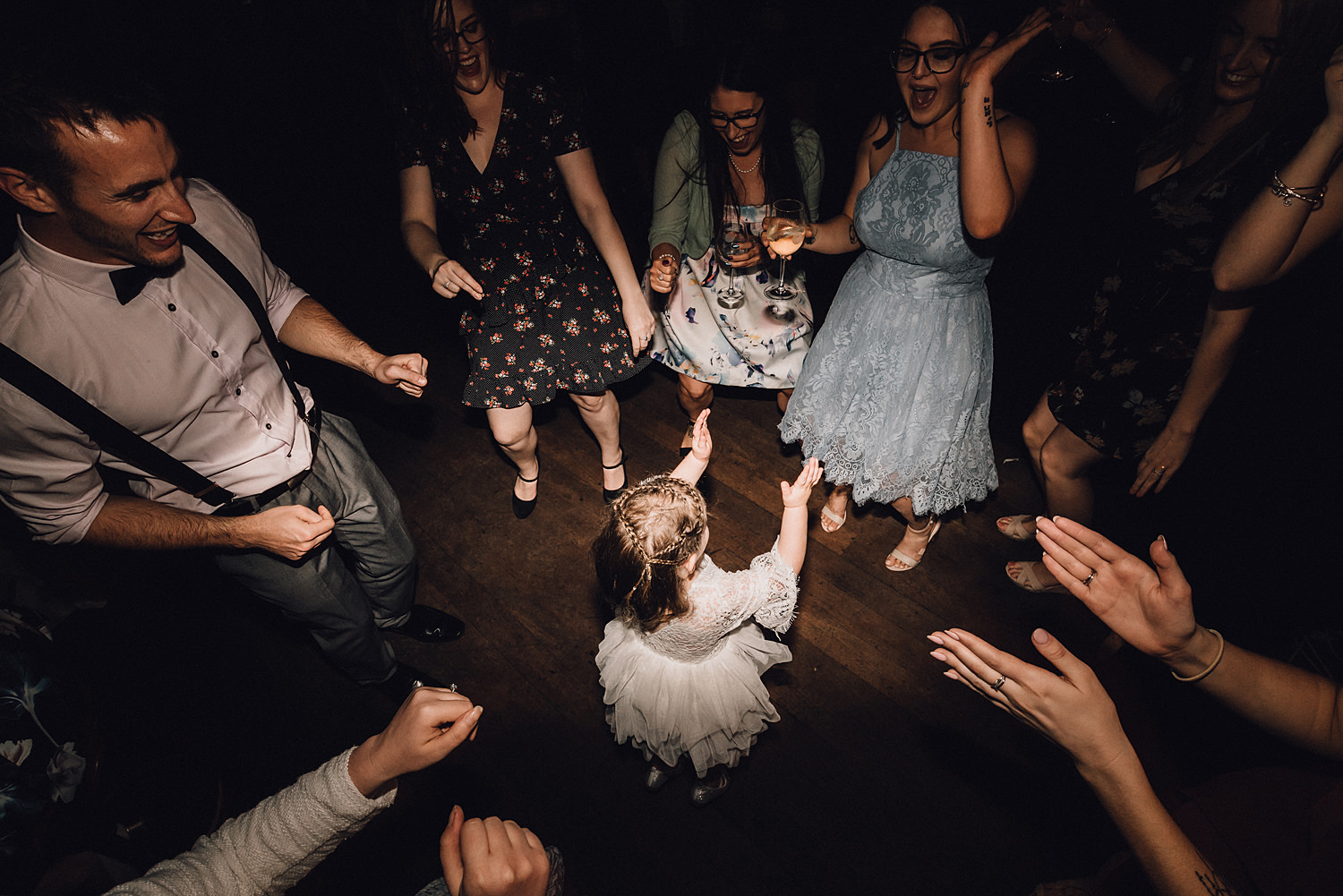Flower Girl Dances In Circle