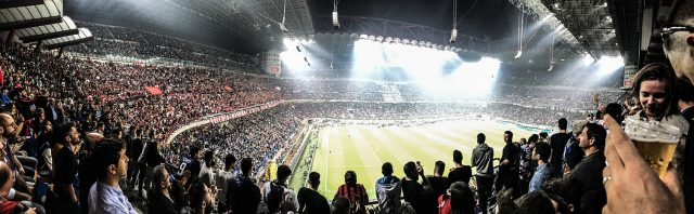 Panoramic San Siro Football Stadium