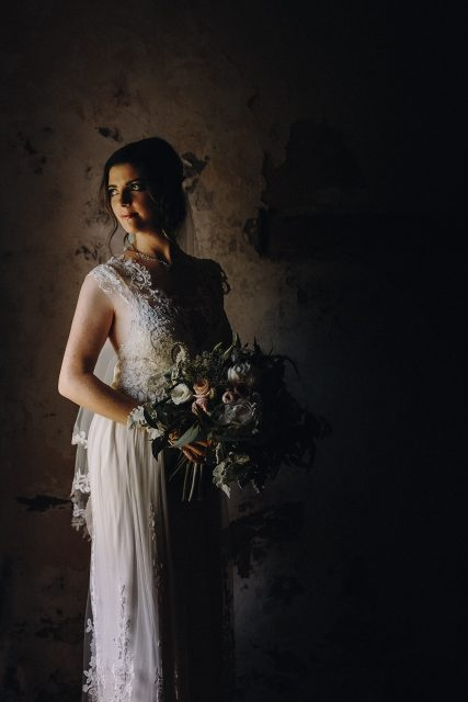 Bride With Flowers Old Broadwater Farm