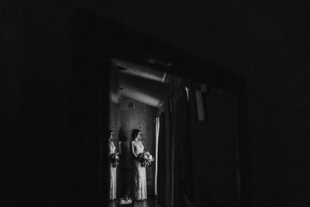 Bride In Mirror Refelction Old Broadwater Farm