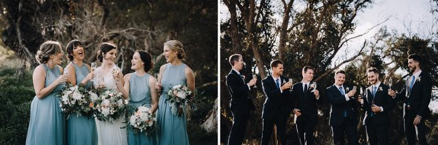 Bridal Party At Paperbark Trees Busselton
