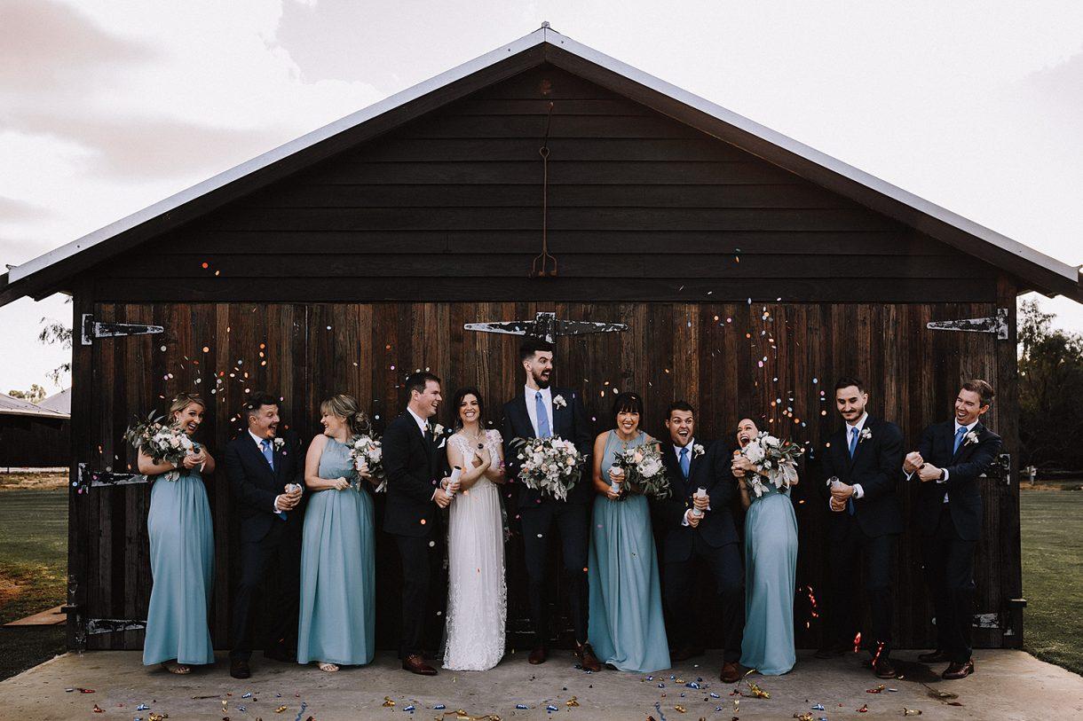 Bridal Party Confetti Champage Spray Old Broadwater Farm