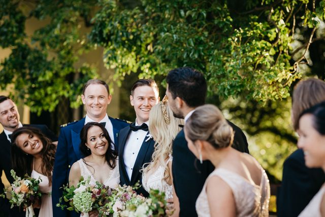 Bridal Party Laugh Lake Como