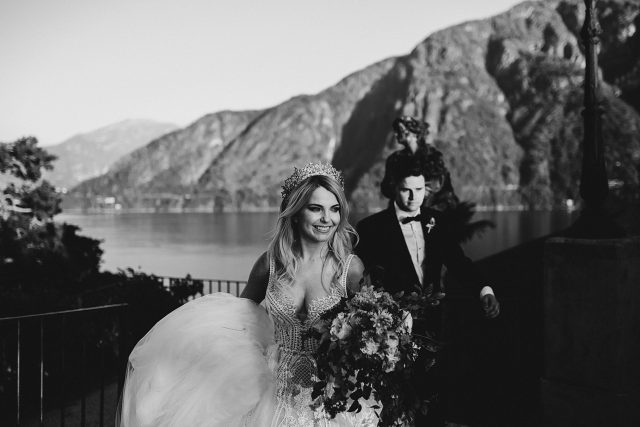 Bride Groom Lake Como Wedding