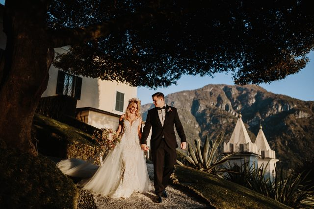 Vila Balbianello Bride Groom Mountain
