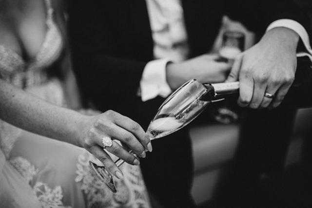 Lake Como Boat Bride Champagne