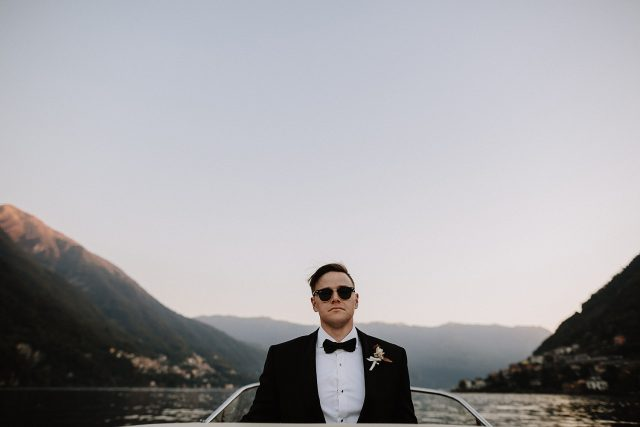 Lake Como Boat Groom Moutain Ray Bands
