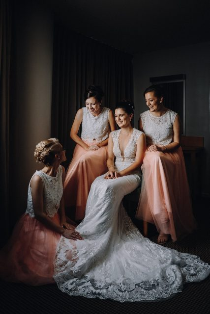 Brides Bridesmaids Laughing Happy Perth