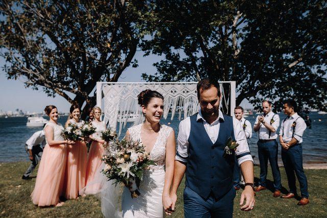 Matilda Bay Wedding Couple Bride Groom Perth