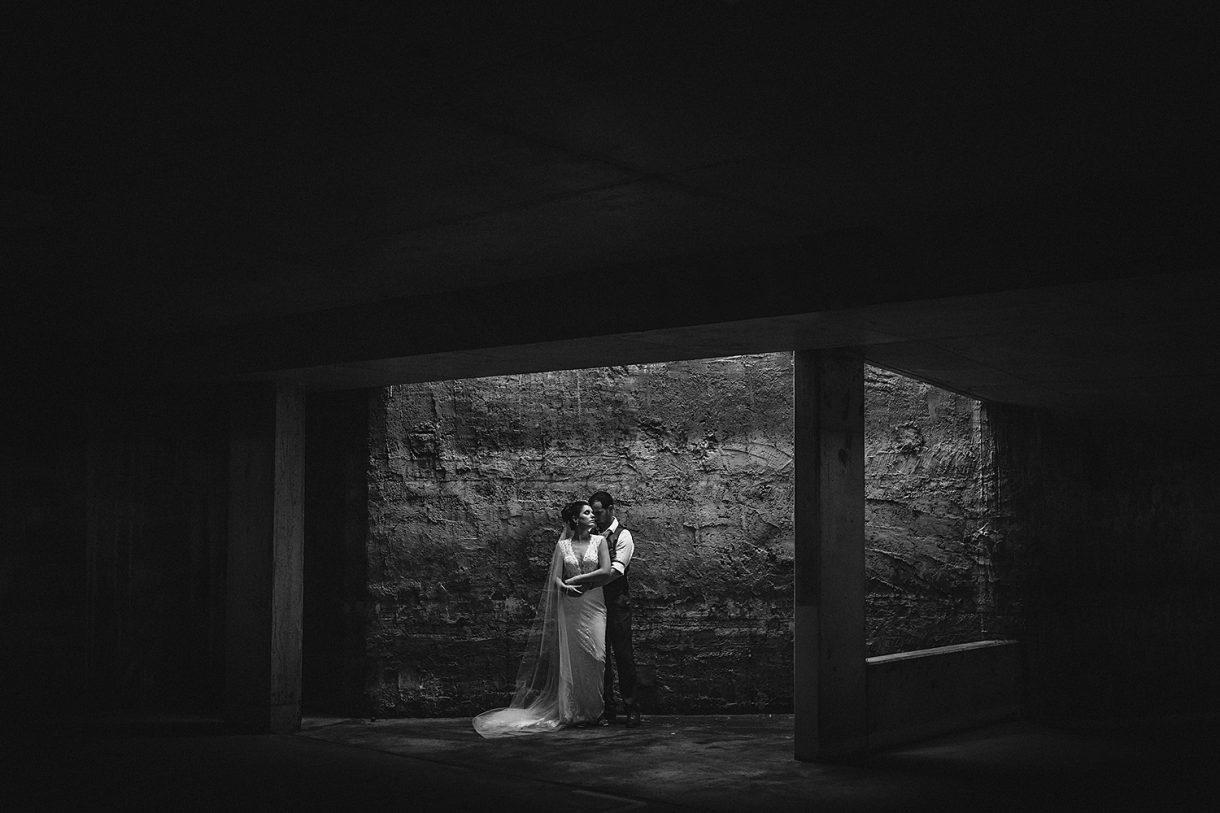 Artistic Dark Gritty Street Black White