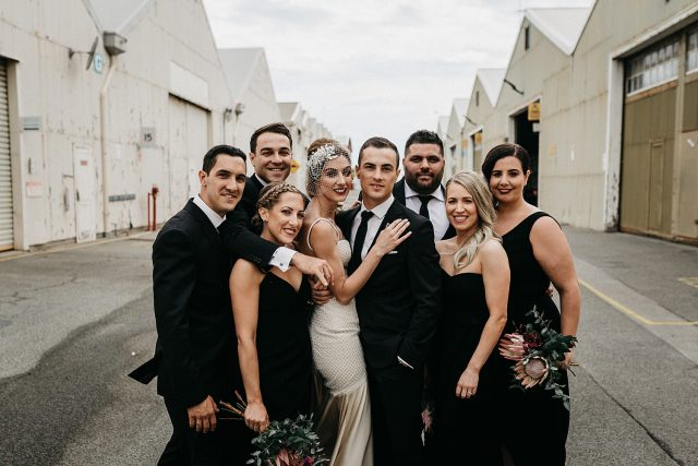 Group Bridal Party Love Together