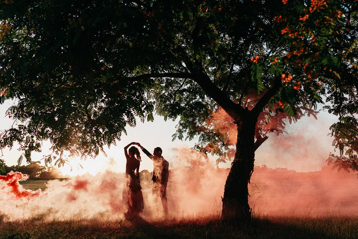 Smoke Wedding Sandalford Swan Valley