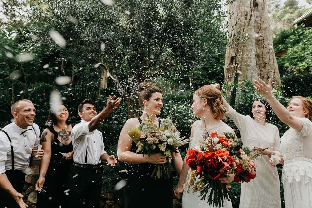 Same Sex Wedding Ceremony Confetti