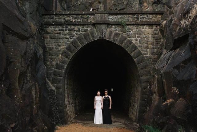 Same Sex Wedding Swan View Tunnel