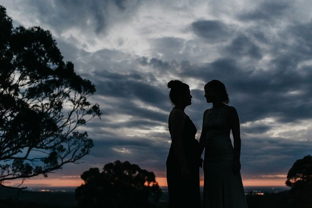 Sunset Wedding Image Perth Hills