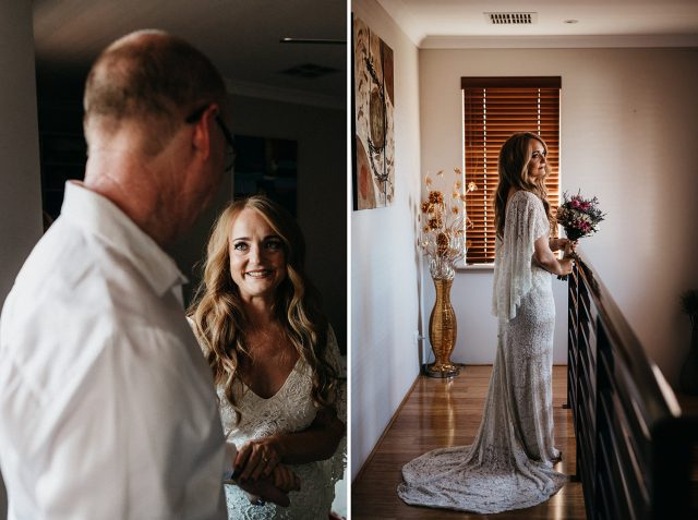 First Look Bride Portrait Gown