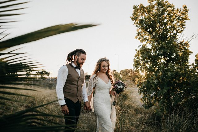 Bush Walk Married Groom Bride Perth