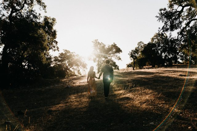 Documentary Engagement Shoot Couple Wedding Golden Hour