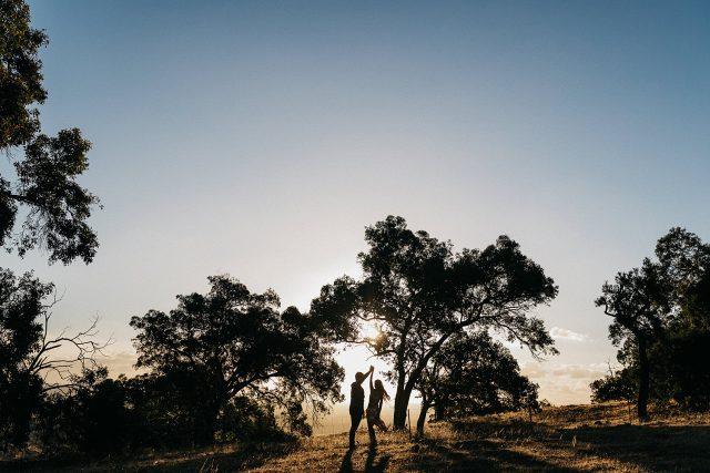 Dancing Couple Single Tree Wedding Perth Hills
