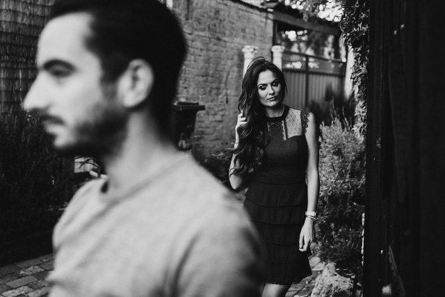 Dark Portrait Couple Shoot Fremantle