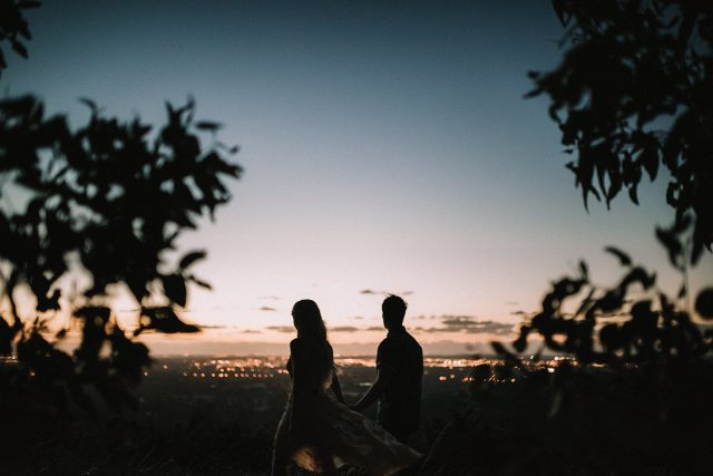 Silhouette Couple Engagement Perth