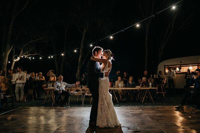 Open Air Yanchep Festoon First Dance Wedding