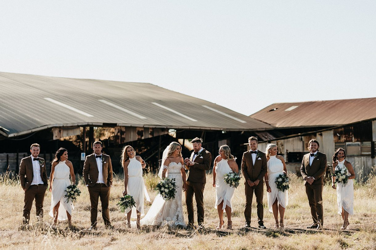 Rustic Bridal Party Saint Aidan's Ferguson Valley Wedding