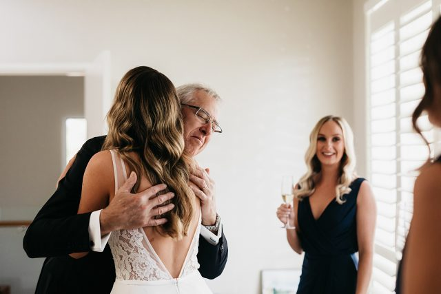 Bride Reveal To Dad Emotion