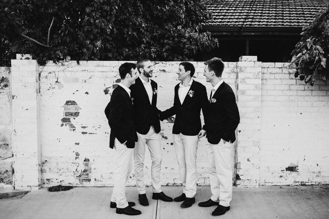 Fremantle Bridal Party Black And White