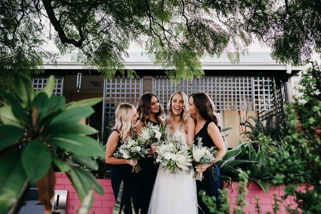Bride With Bridesmaids Fremantle Wedding