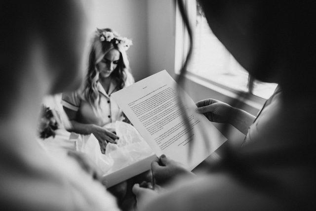 Perth Bride Gift Letter Groom Tears