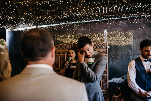 Groom Tsunami Wedding Ceremony Photo