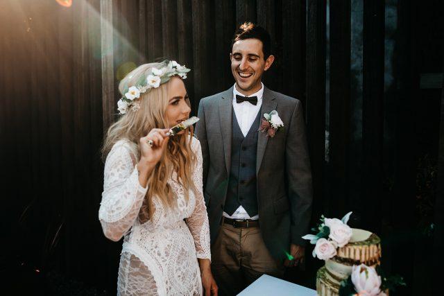 Cake Cut Tsunami Wedding Reception