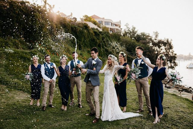 Greens Place Reserve Wedding Champagne Spray