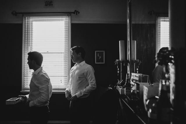 Dark Moody Wedding Photo Journalistic