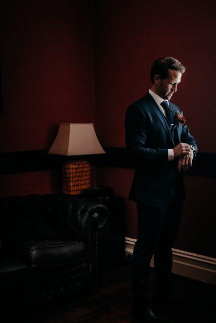 Groom Portrait Watch Dapper Blue Suit