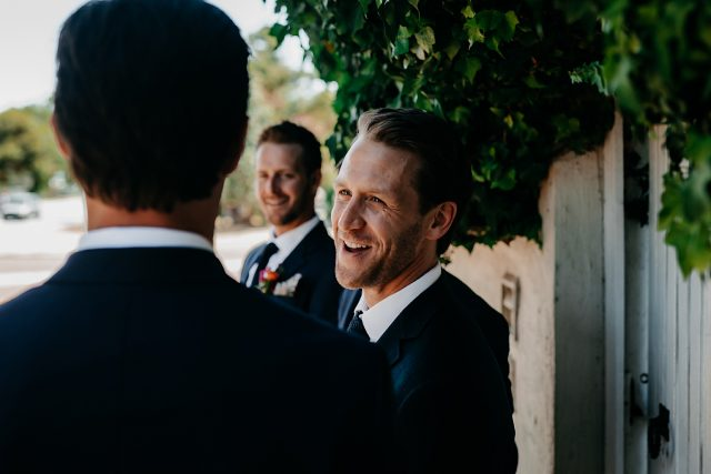 Groom Perth Weding Candid Smiling