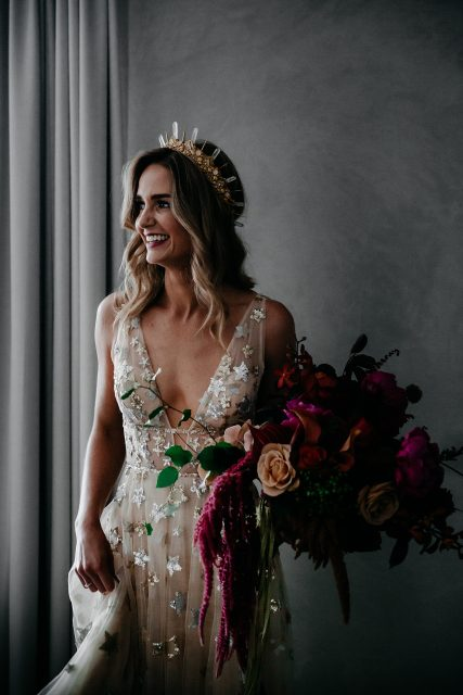 Bride Perth Willow By Watters Star Dress Crown Amaroq Design