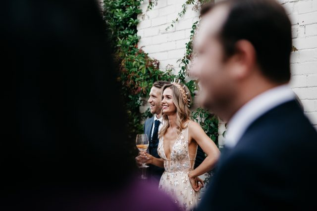 Groom Bride Candid Natural Congratulations