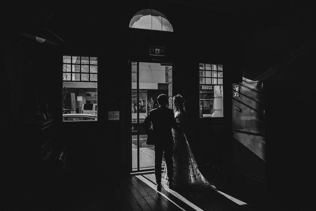 Guildhall Dark Couple Leaving Photo