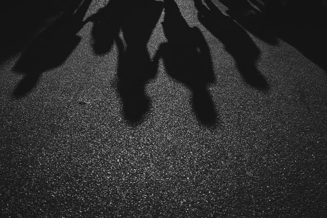 North Fremantle Wedding Party Shadows Arty