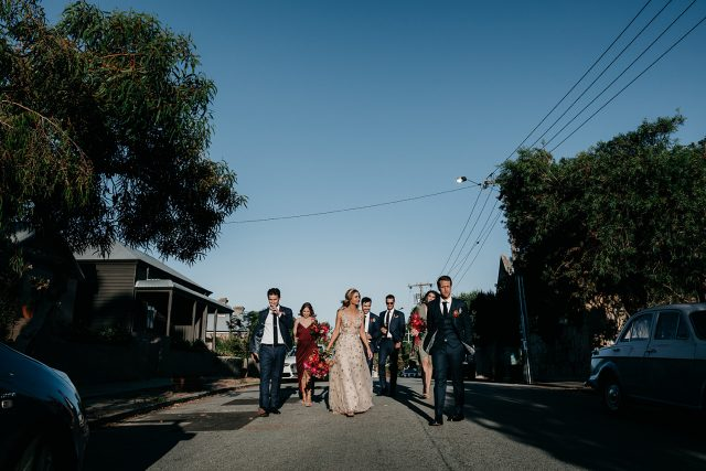 Bridal Party Fremanlte Streets Guildhall Wedding